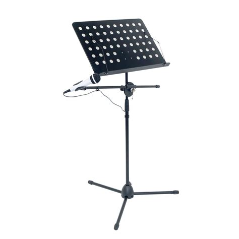 sheet music stand with mic boom arm all in one music