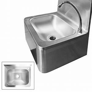 Industrie Waschbecken Edelstahl : waschbecken edelstahl mit kniebedienung industrie ~ Michelbontemps.com Haus und Dekorationen