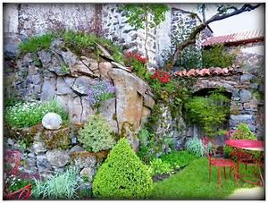 mur de rocaille de christian villain plantes fleurs With creer un jardin d ornement 1 71 idees et astuces pour creer votre propre jardin de rocaille