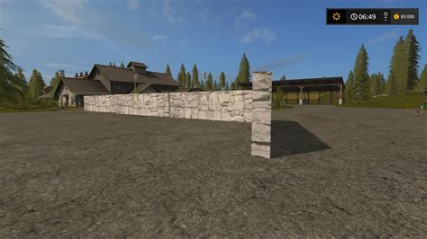 wall ls for wall 10m with collision v2 0 placeable for fs17 farming simulator 2017 fs ls mod