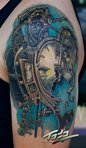 Freitas steampunk clock tattoo by Todo by TodoArtist on ...