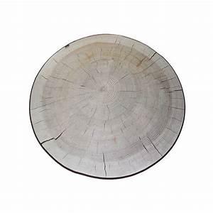 Tapis Rond Design : tapis original et design design bois de bouleau blanc merowings ~ Teatrodelosmanantiales.com Idées de Décoration