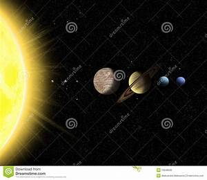 Solar System With Sun And Planets Stock Photo - Image ...
