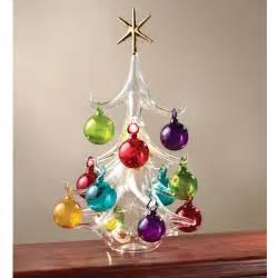 the italian hand blown glass christmas tree hammacher schlemmer