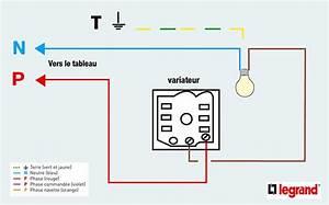 Variateur De Lumiere Legrand : schema branchement interrupteur variateur legrand ~ Dailycaller-alerts.com Idées de Décoration