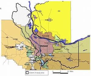 Map of Portland, Oregon, metropolitan area