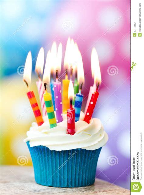birthday cupcake stock photography image