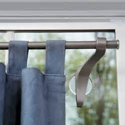Suction Cup Window Curtain Rod by Stick Up Curtain Hardware Betterimprovement