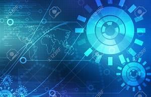 12927552 Blue Technology Background Stock Photo ...