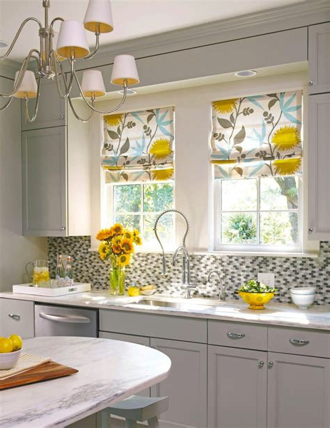kitchen curtain ideas small windows small kitchen update modern retro material for