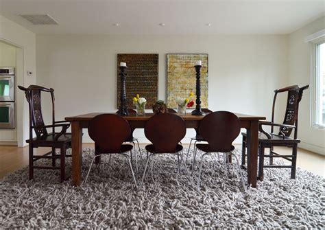rug dining room table innovative grey shag rug decorating ideas for living room