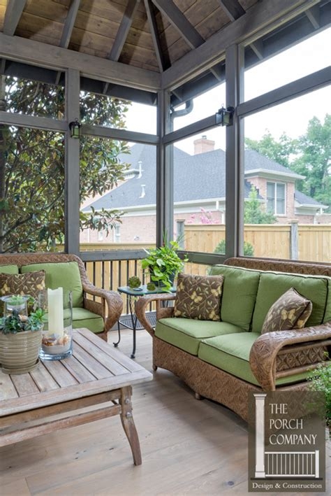 the porch company soothing greys and cypress floors create small nashville