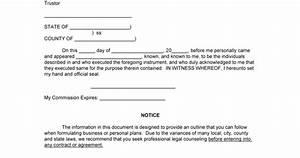 Printable Bill Of Sale Car Sample Revocation Of Trust Form Blank Revocation Of Trust