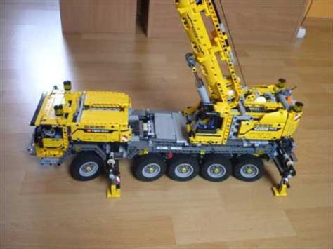 lego technic schwerlastkran lego 174 technic mobiler schwerlastkran 42009 mit led rundumleuchten 1