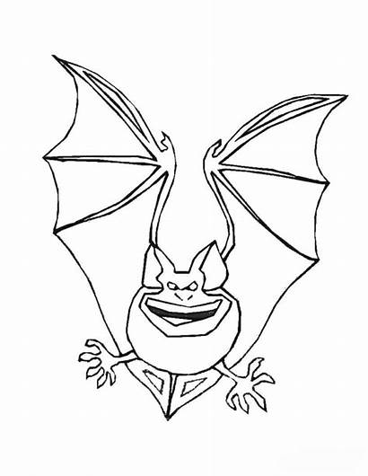 Coloring Pages Bat Halloween Printable Bats Scary