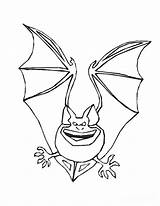 Coloring Pages Bat Printable Halloween Scary Bats Animal sketch template
