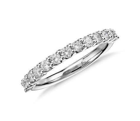diamond wedding ring in platinum 1 2 ct tw blue nile