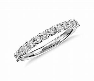 luna diamond wedding ring in platinum 1 2 ct tw blue With diamond wedding band ring