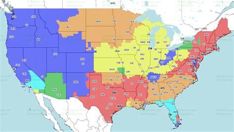 nfl week  broadcast map turf show times