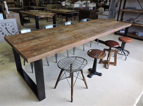 table cuisine style industriel salle à manger style industriel