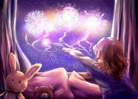 fantasy art childhood dreams stuffed animals window