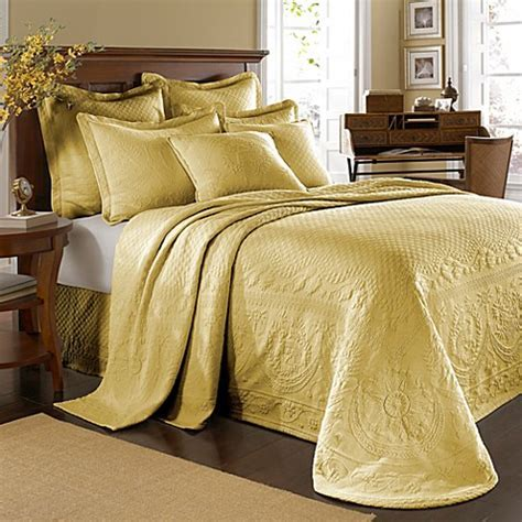 King Charles Matelasse Bedspread in Sunshine   Bed Bath