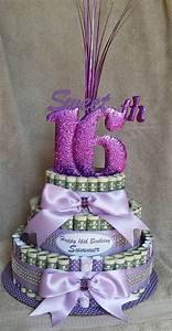 "Items similar to MONEY CAKE Medium ""Sweet 16th Birthday ..."