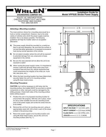 Whelen Strobe Power Supply Wiring Diagram by Whelen Strobe Power Supply Wiring Diagram
