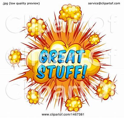 Stuff Clipart Comic Illustration Royalty Explosion Styled