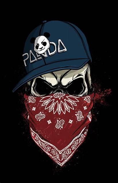 Skull Behance Panda Dope Thug Caveira Background