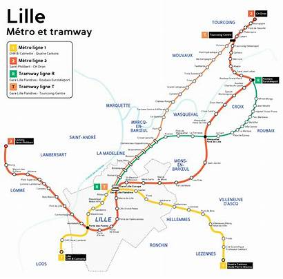 Lille Metro Tram France Tramway Svg Map