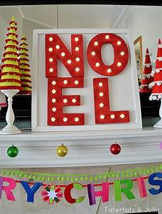 10 diy christmas marquee signs youll love shelterness With christmas marquee letters