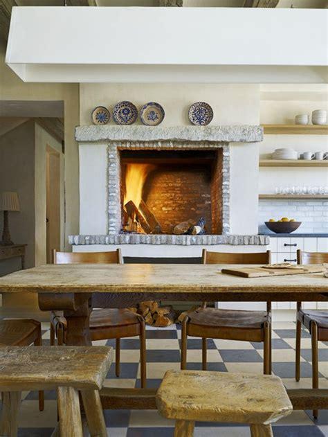 kitchen fireplace houzz