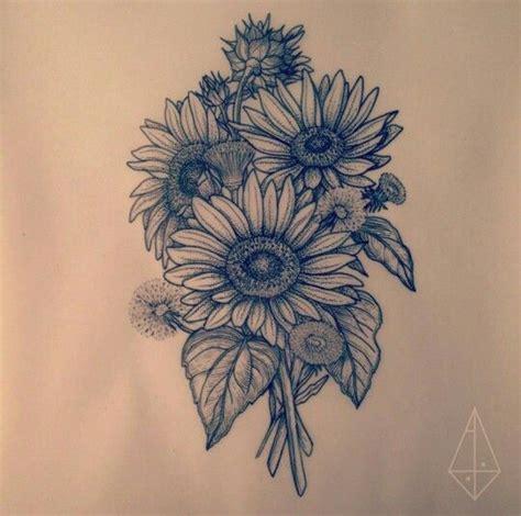 sunflower drawing tatt flower tattoos tattoos sunflower tattoos
