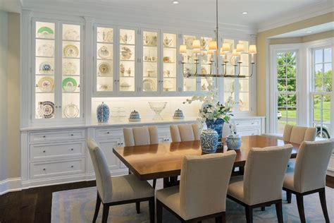 china cabinets dining room traditional with white