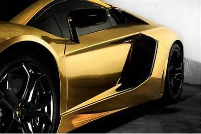 Lamborghini Cars Cool Wallpapers Covering Golden Aventador