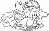 Coloring Pages Thanksgiving Printable October Turkey Dinner Colouring Sheet Drawing Getcoloringpages Kindergarten Yoand Biz sketch template