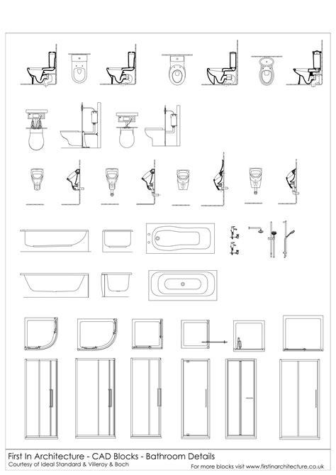 cad blocks bathroom details