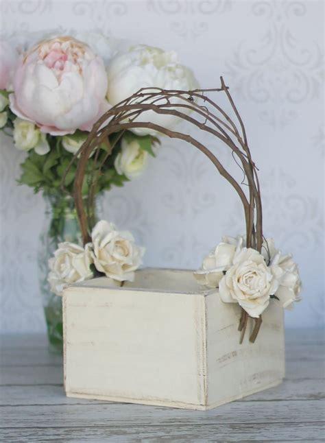 flower girl basket shabby chic wedding decor p