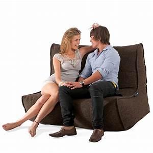 2 seater cream sofa designer bean bag couch bean bag With beanie couch