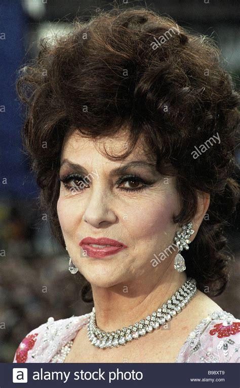 Italian cinema actress Gina Lollobrigida Stock Photo