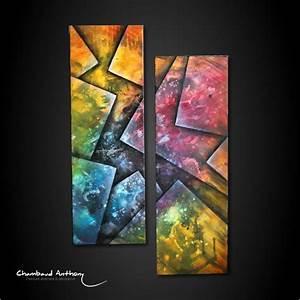 Tableau Moderne Coloré : diptyque moderne color en perspective peinture sur toile ulatus ~ Teatrodelosmanantiales.com Idées de Décoration
