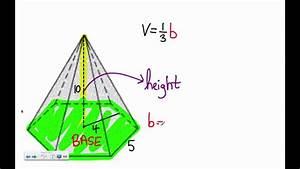 Polygon Pyramid  Hexagon    Pentagon  Volume Problem