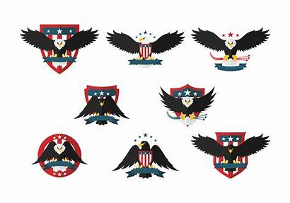 Eagle Seal Vector Icons Flat Graphics Clipart