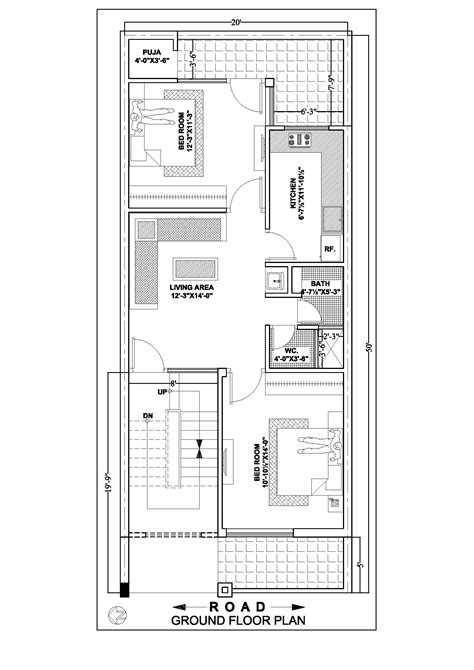 20 by 50 home design 20 215 50 house floor plan according to east south west side ghar banavo