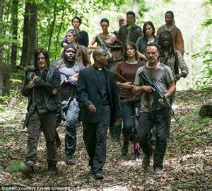 Walking Dead Resumes Season 6 by Walking Dead S Sonequa Martin Green Welcomes Kenric Justin Ii Daily Mail