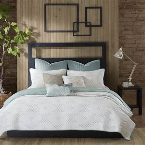 Ink, Ivy, Pacific, Cotton, 3-piece, Coverlet, Set
