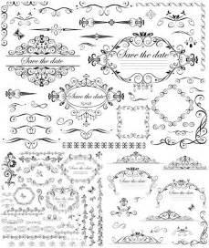 wedding ornaments wedding decorative frames and borders vector vector graphics