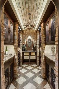 closet converted into a custom wine cellar mediterranean With what kind of paint to use on kitchen cabinets for wine barrel head wall art