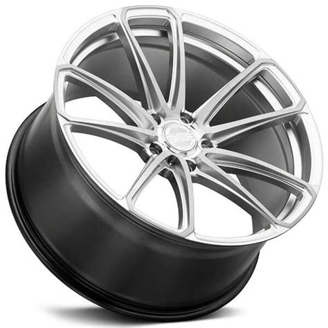 staggered xo wheels madrid hyper silver  milled